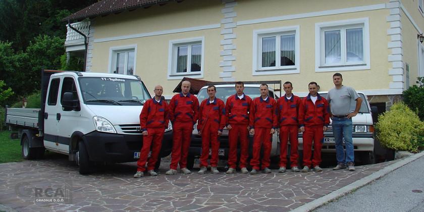 Gradbene storitve ekipa Gradnje Grča